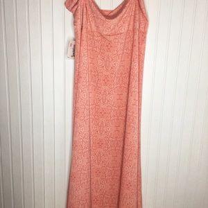 Peach Paisley Maxi Skirt NWT 3xl
